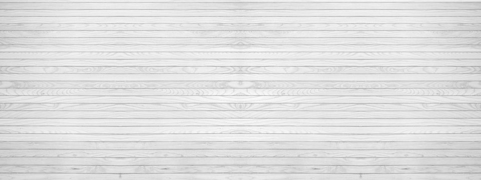 panorama of white grey wooden texure floor background table top view