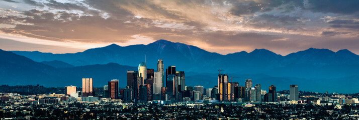 Fotomurales - Los Angeles Skyline at sunset