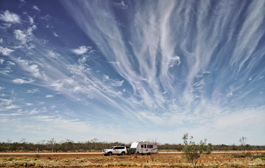 Travelling in the Outback Austrailia in Northern Territory