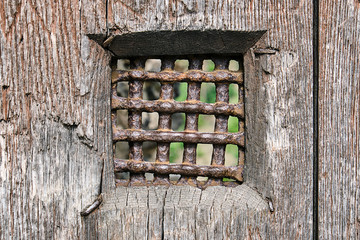 Detail of a door of an medieval prison