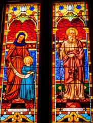Saints Stained Glass San Fernando Cathedral San Antonio Texas