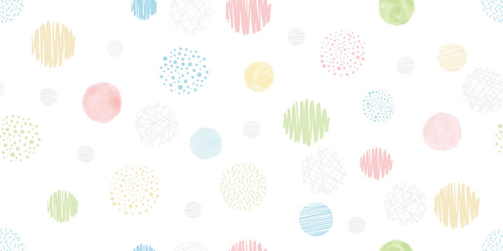 Cute geometric background. Seamless pattern.Vector. かわいい幾何学パターン