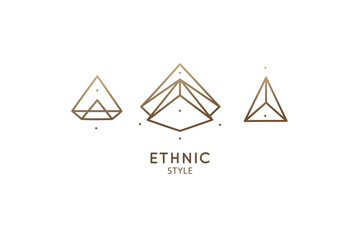 Linear abstract logo diamond