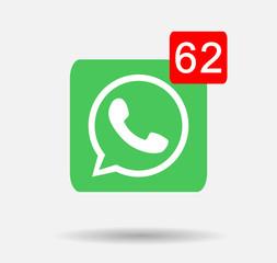 whatsapp  button vector editorial