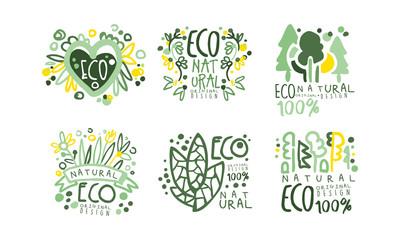 Eco Natural Labels and Logos Original Design Vector Set