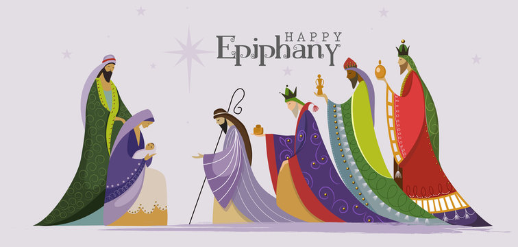 Vector Illustration of Epiphany, Epiphany is a Christian feast day