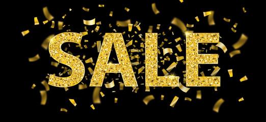 Golden Confetti Sale Centre Black Header