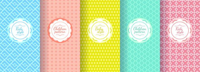 Kid s colorful seamless pattern. Cute pattern design.