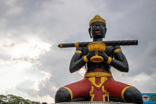 Ta Dumbong Statue (Lok Ta Dombong Khieu Nhung) in the city center of Battambang, Cambodia
