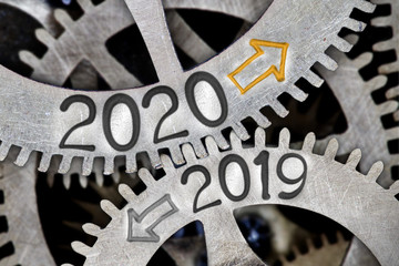 Metal Wheels with New Year 2020