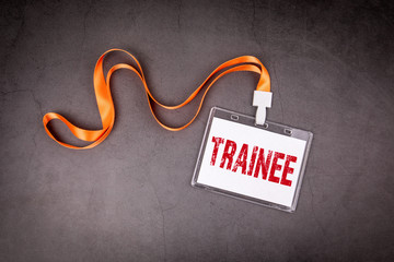 Trainee. Training, skills, practice and career concept