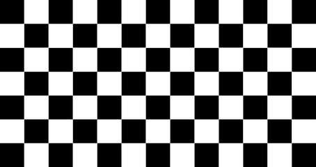 Traditional Black And White Chequered Start Flag
