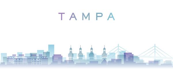 Tampa Transparent Layers Gradient Landmarks Skyline