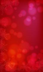 冬の幻想的な雪の結晶背景素材 レクタングル(縦長)