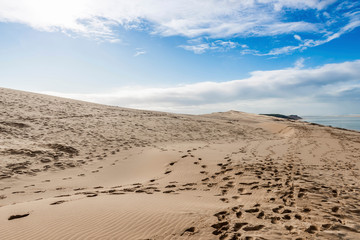 The Pilat dune in New Aquitaine, France