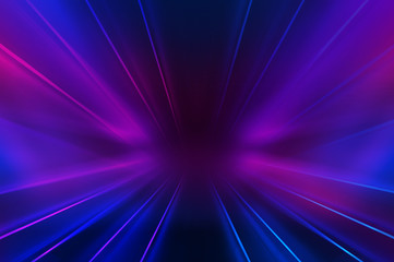 Empty dark abstract background. Background of an empty show scene. Glow of neon lights on an empty stage. Fotomurales