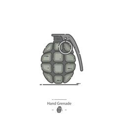 Hand Grenade - Line color icon