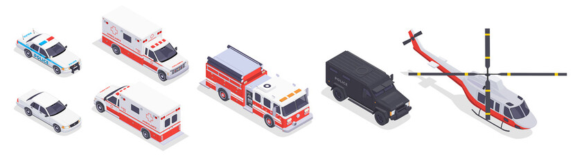Emergency Service Isometric Set