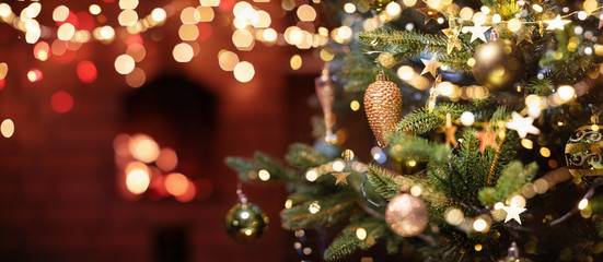 Wall Mural - Christmas Tree with Decorations