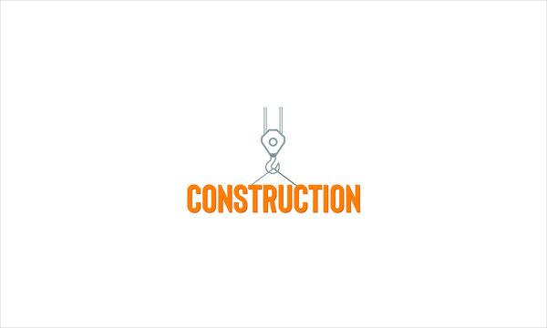 Construction crane hook icon. Logo element illustration. Construction crane symbol design from 2 colored collection.
