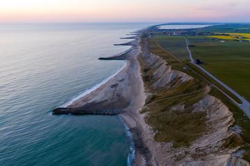 Die Dänische Küßte von Nordjütland aus der drohnenperspektive