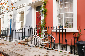 Tuinposter Fiets London