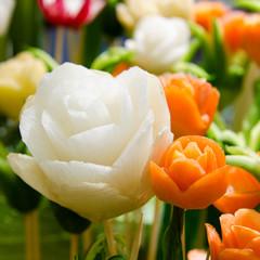 Blumen aus Gemüse