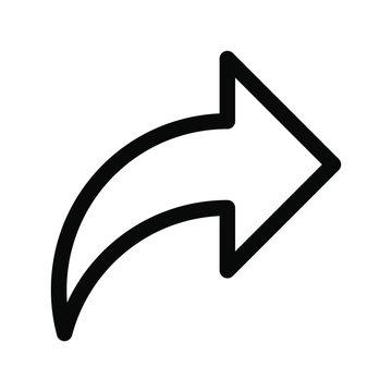 Share arrow icon. publish arrow symbol. right arrow vector. social media icon.