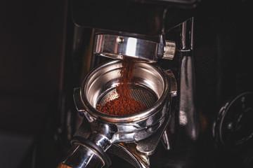 Coffee grinder grinding