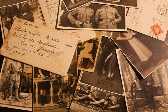 old photos and postcard (1940-1945)