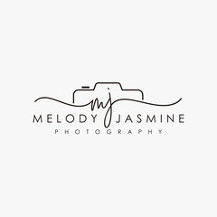 initial mj feminine logo collections template vector