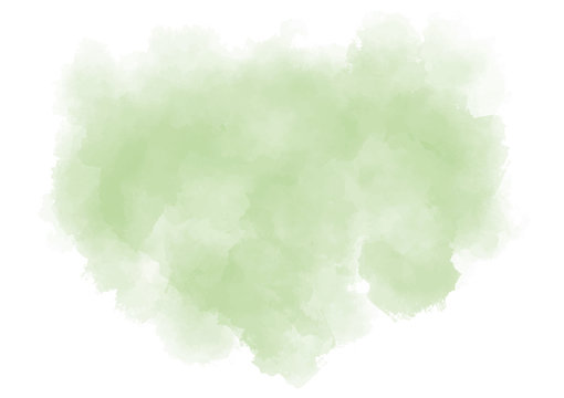 Pastel green background. Watercolor splash on white paper. Textured illustration. Subtle mint stain. EPS 8. Vector illustration.