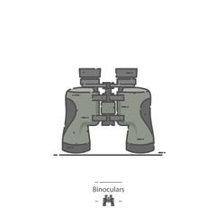 Binoculars - Line color icon