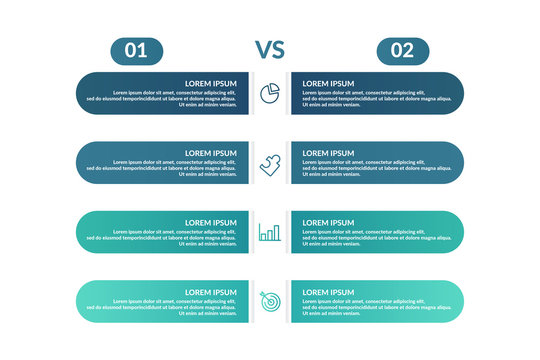 comparison infographic template design for business presentation