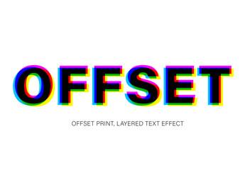 Offset Color Text Effect