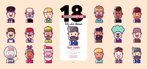 user avatar full color