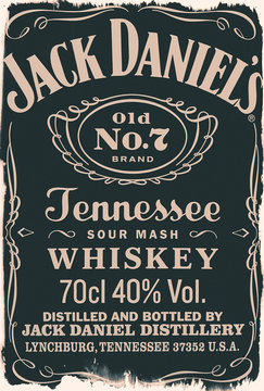 label of the whiskey Jack Daniels No. 7