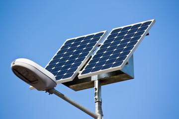 streetlight with solar panel Fotomurales