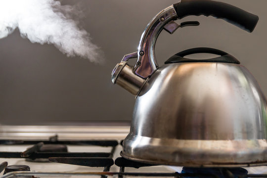 kettle with a whistle boils
