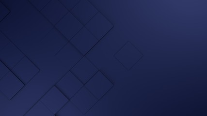 Wall Mural - blue blank geometric cubes abstract background. 3d illustration, 3d rendering