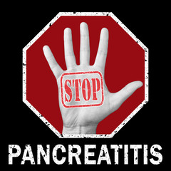 Stop pancreatitis conceptual illustration