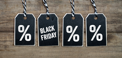 Black friday and black week hang tags and cubes