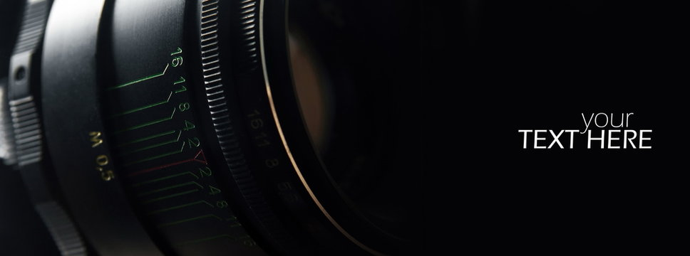 Camera lens with the copy space