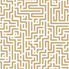 Vector seamless geometric pattern - striped design. Trendy digital background, endless gold texture