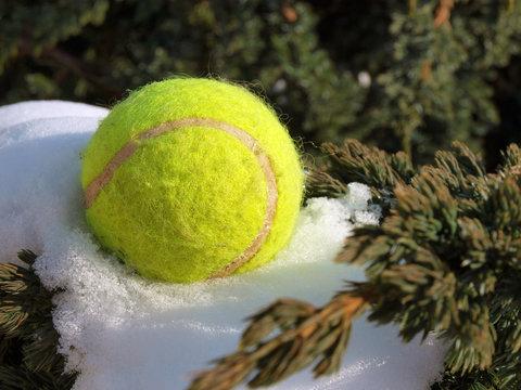 Ball on snow