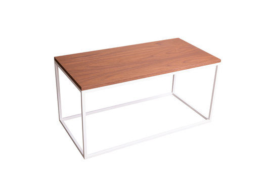 Roof table white with wooden coating