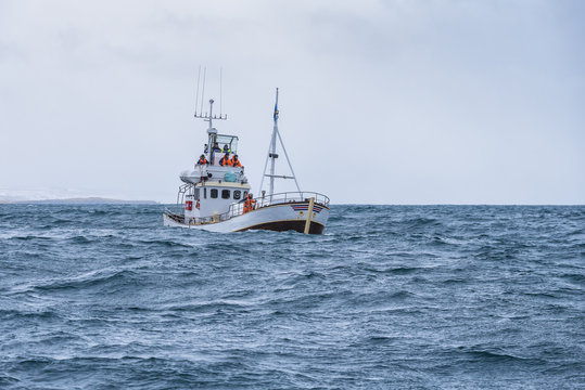 fishing boat in the ocean