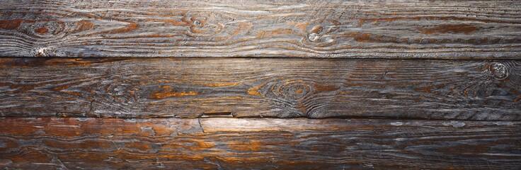 vintage wodden planks background texture or backdrop, banner size