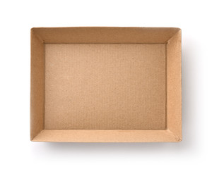 Top view of empty craft cardboard box