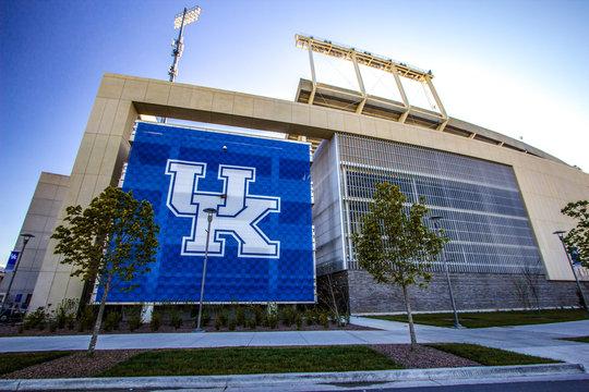 Lexington, Kentucky, USA. April 22, 2016 - The Commonwealth Stadium is the football stadium for the University of Kentucky Wildcats.